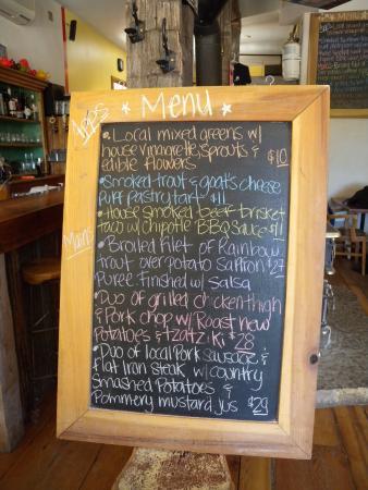 menu board for brunch