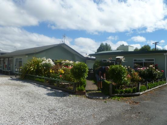 All Seasons Holiday Park Taupo : Garden, pool area