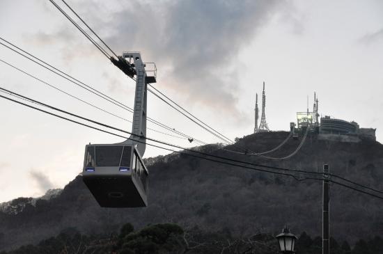 2台が交互に観光客をピストン輸送 - Photo de Mt.Hakodate Ropeway ...