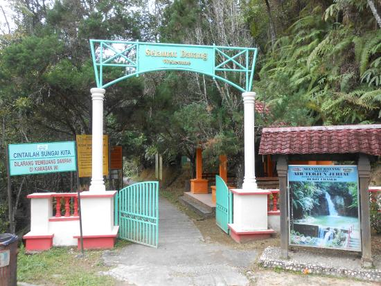 Jeriau Waterfall: Entrance to the Pathway leading to the falls