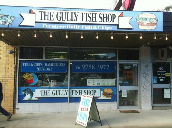 Our local fish and chippy the gully fish shop ferntree for Local fish store