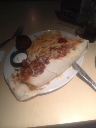 Exchange Bar & Grill: Mahooosive burrito!!