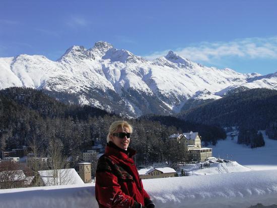 Badrutt's Palace Hotel: Beautiful alps