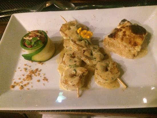 La Terrasse: Pastis shrimp