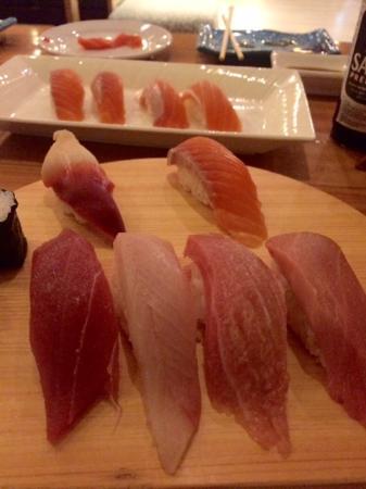 Take I Japanese Restaurant: Imported fish sushi set including chutoro and otoro