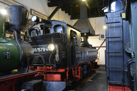 Rittersgrün, เยอรมนี: Inside the engine shed