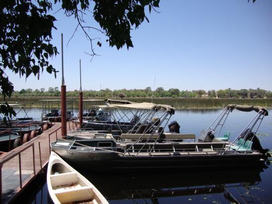 Island Safari Lodge: the boats