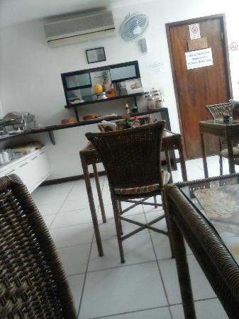 Quaraca Pousada: Local do café