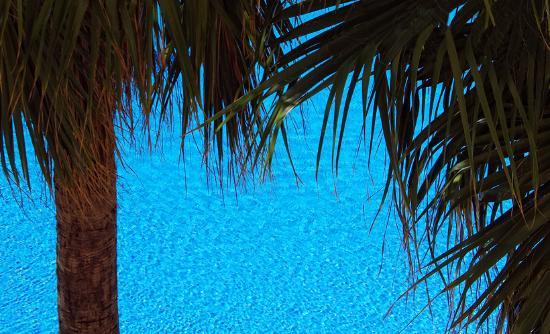 Hotel Duque de Najera: Blick vom Balkon des Zimmers auf den Pool