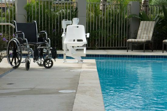 accessible pool chair lift from our outdoor swimming pool picture