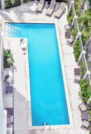 hyatt place manati aerial view of our outdoor swimming pool - Rectangle Pool Aerial View