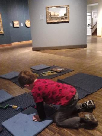 Allentown Art Museum: Playing with Blocks in Kress Room
