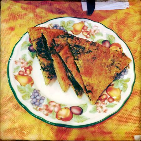 Yuan Fu Vegetarian: Spinach Pancake