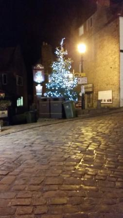 Haven Guest House: Bottom of Abbey steps Christmas 2014