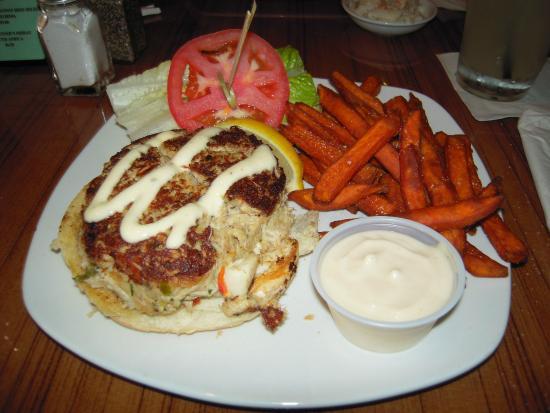 Taste Casual Dining: Crab Cake on a Kaiser Bun