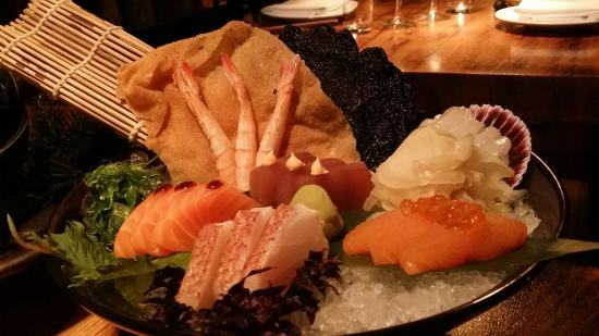 Seafood sashimi platter picture of fiskmarkadurinn the for Fish market reykjavik