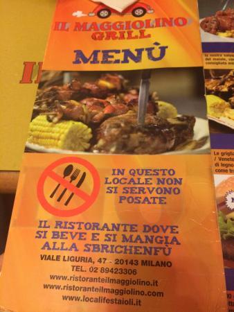Il Maggiolino : Menù... Proibite posate!!!:)