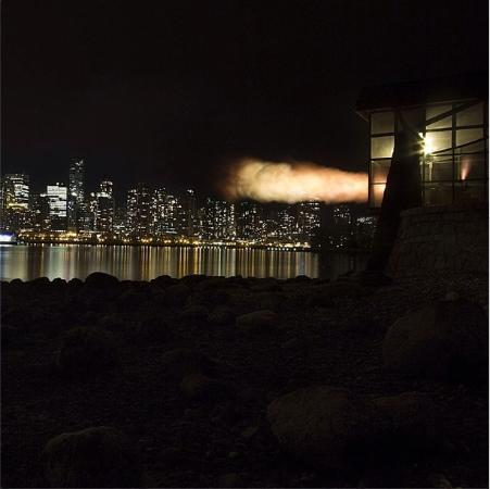 Seawall in Vancouver : 9 o'clock gun