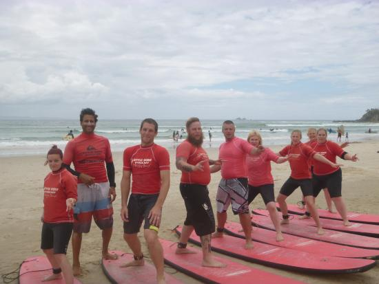 Byron Bay Style Surfing School: here we go with Style Surfing Byron Bay