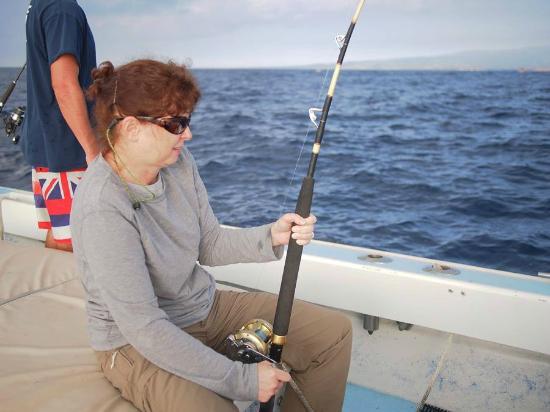 Captain Don's Sportfishing : Karen fighting a monster