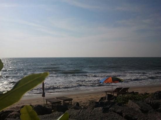 Chilliout Cafe Cherai beach: There are sunbeds available on the beach