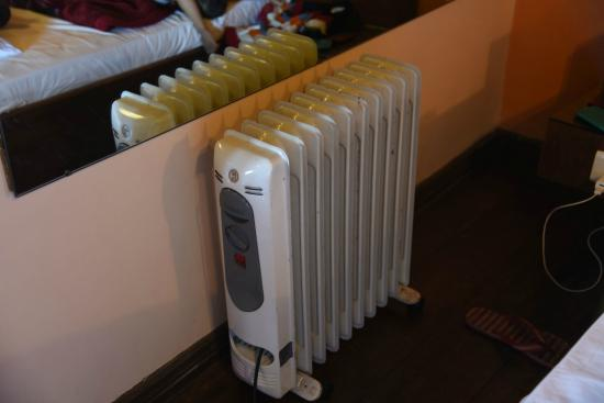 Hotel and Restaurant Shangri-la: Heater ... Please note its body gets warm