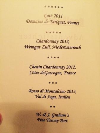 Boettner's : Weinbegleitung