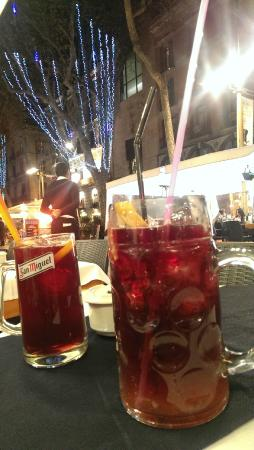 Pita House: small and large Sangria!