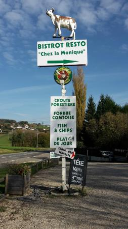Fourbanne, Francia: pourquoi Bistrot RESTO parce qu'on peut y manger une assiette vite fait mais bien fait !