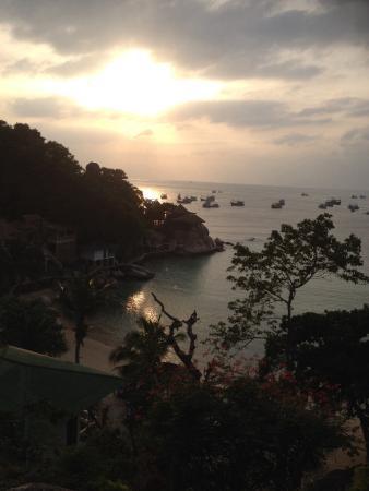 Taatoh Resort & Freedom Beach Resort: unser ausblick vom bungalow