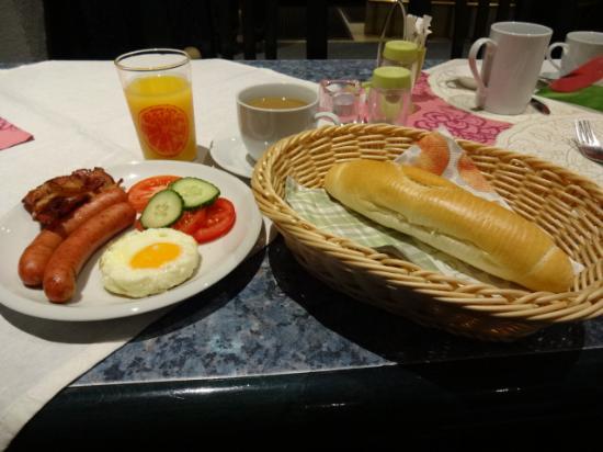 Penzion u Vlcku: 朝食のメニューは豊富です。
