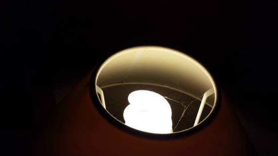 Ednam House: Cobwebs in bedside lamp