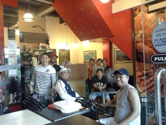 Ever cheerful staff at Dream Cafe