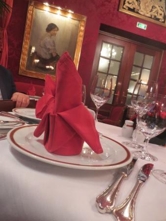 Restaurant Rote Bar: Gedeck