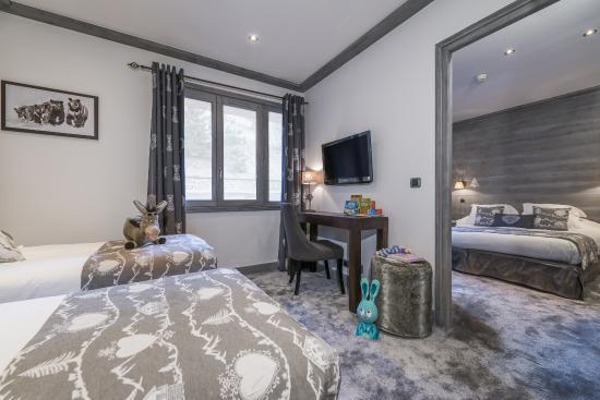 Hôtel La Chaudanne  : Chambre familiale
