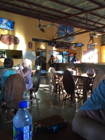 Perlas: Inside the restaurant/bar. Great beer selection.