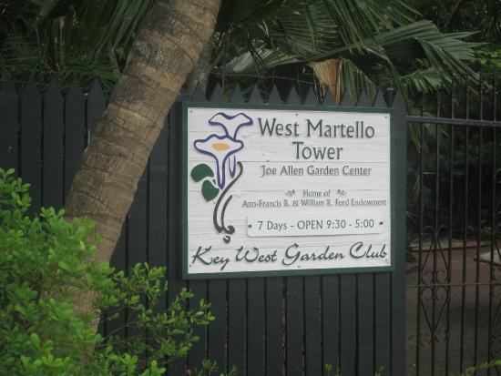 Key West Garden Club : Entrance