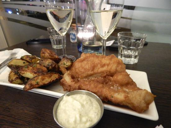 My red fish and wedges picture of icelandic fish chips for Icelandic fish and chips