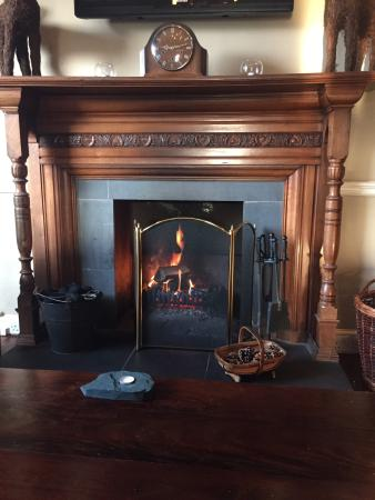 Angel Inn: The lovely fireplace - Dec 14