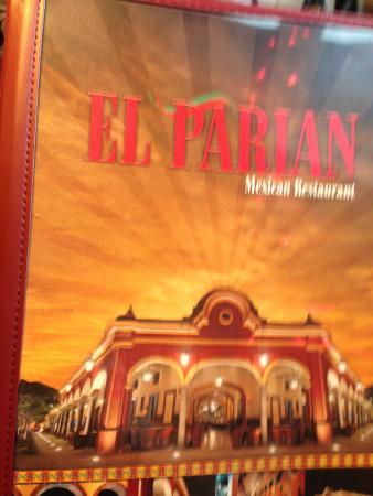 El Parian: Menu