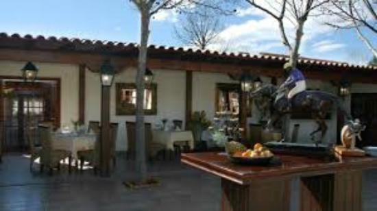 Entrada al Restaurante La Hacienda de Los Santos