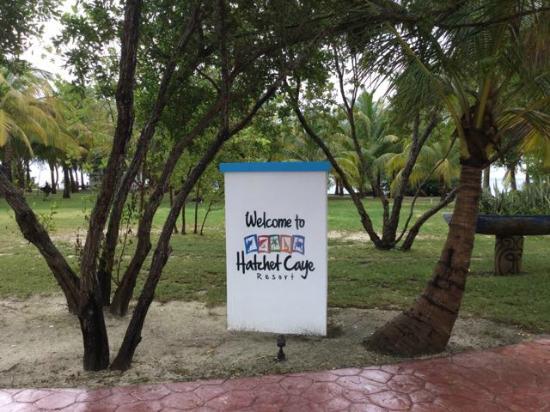 Hatchet Caye Resort : Welcome to Hatchet Caye
