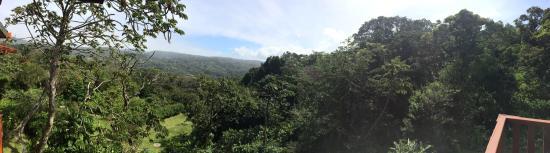 Cala Lodge: Blick vom Balkon Zimmer 6