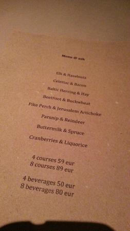 Ask : menu