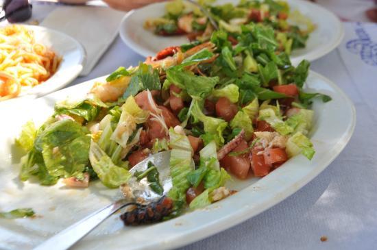 The Net: Seafood salad!!! Yum!!!