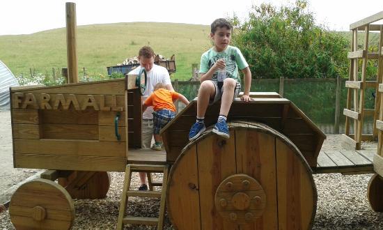 Cobble Hey Farm & Gardens: Wooden tractor
