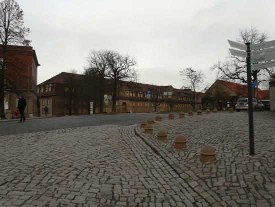 Zitadelle Petersberg: oben angekommen