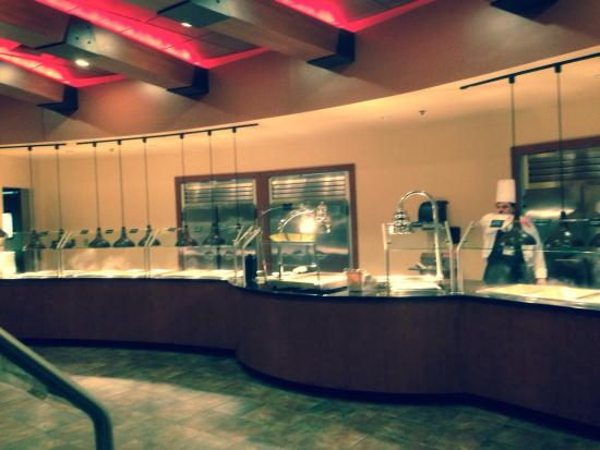 ลิงคอล์นซิตี, ออริกอน: Steaming hot food station!