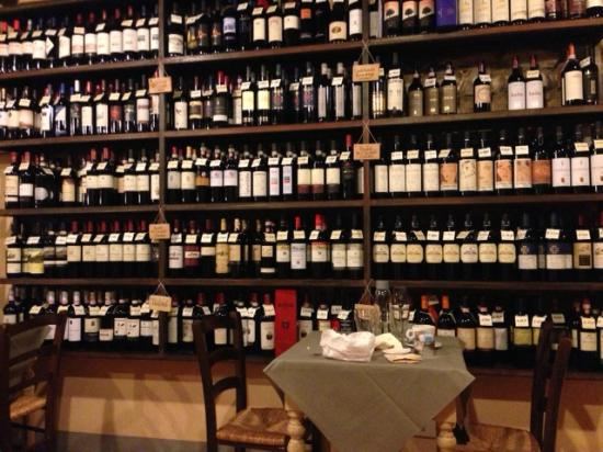 Osteria La Botte Piena: See any wine you might want?