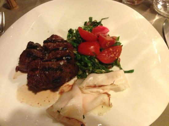 Osteria La Botte Piena: secundo steak and lard